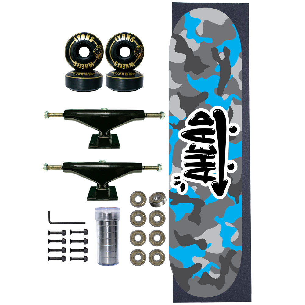 Skate Completo Ahead Military All Blue