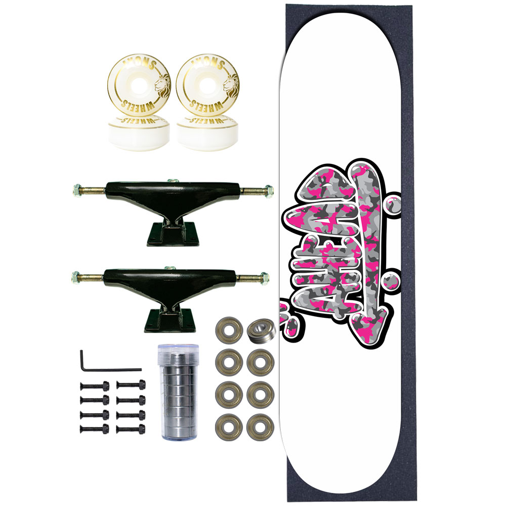 Skate Completo Ahead Military Logo Pink