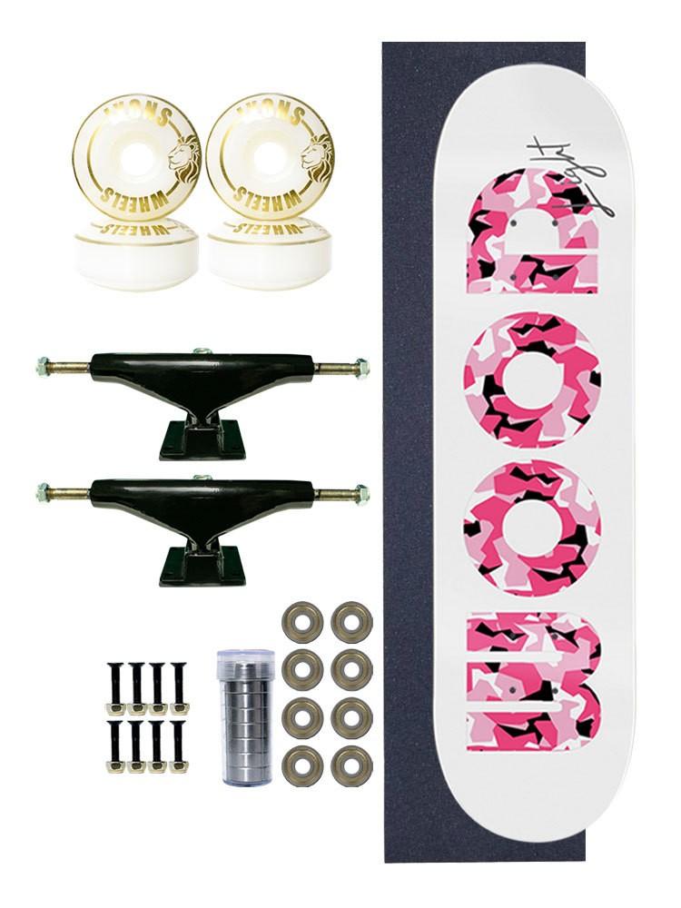 Skate Completo Army Camo Pink