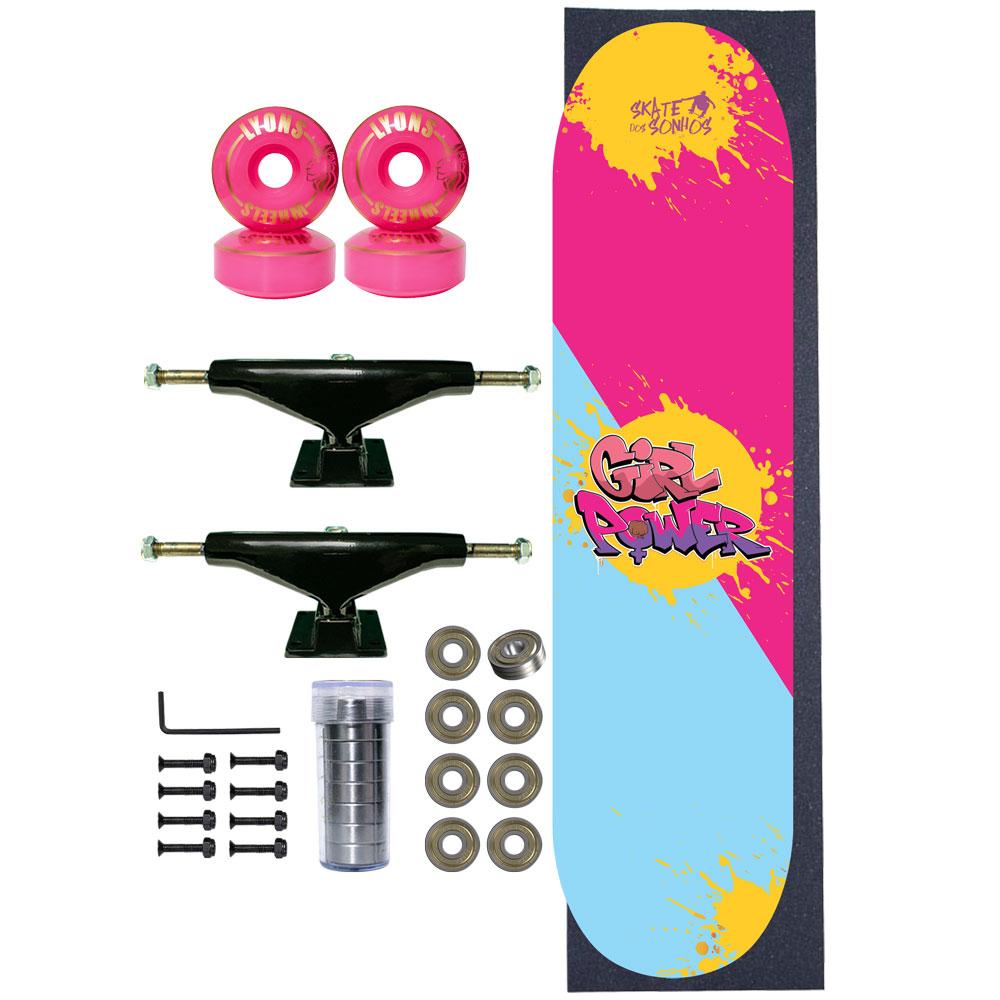 Skate Completo SDS Co 7.75 Girl Power Base