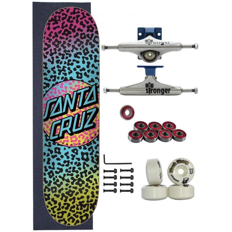Skate Santa Cruz Completo 8.0 Prowl Dot