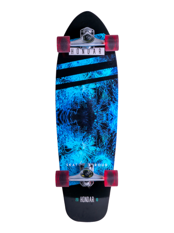Skate Simulador de Surfe Hondar Squash Coral Blue