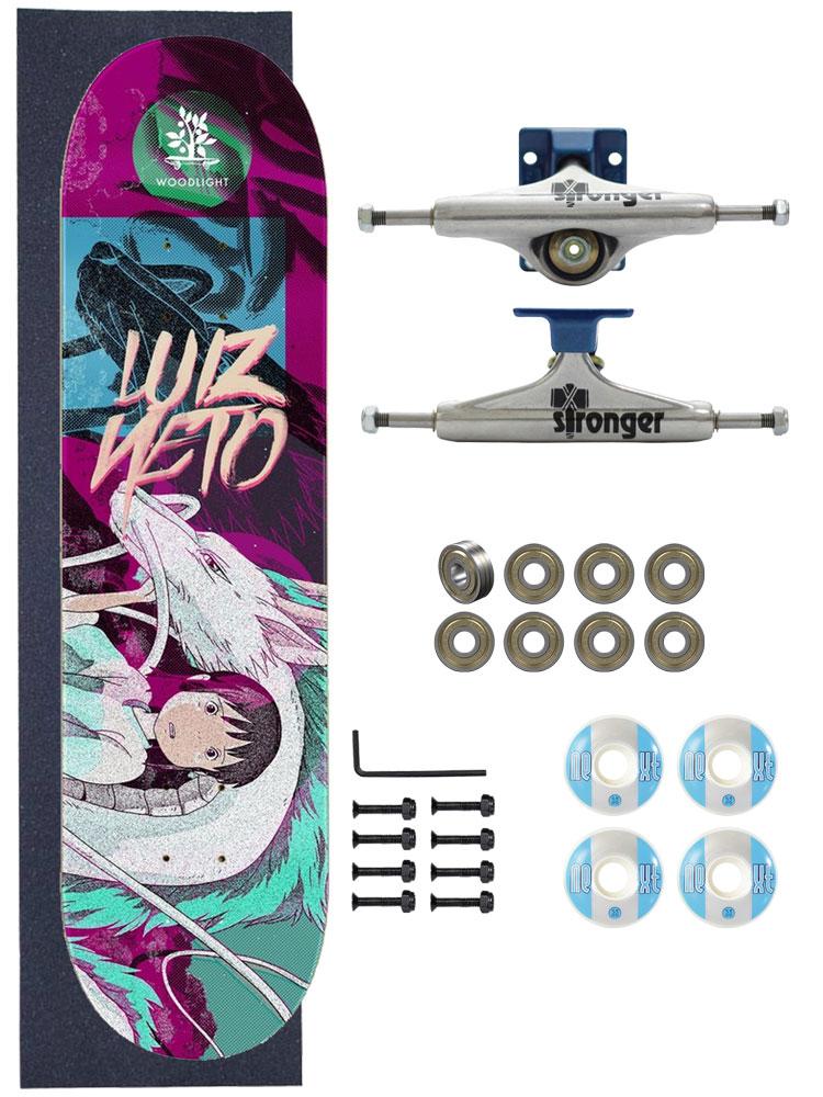 Skate Wood Light Completo Amador 7.75 Girl and Dragon