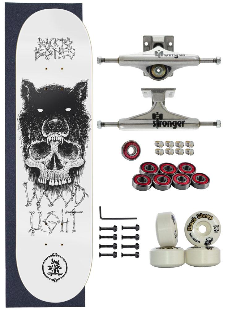 Skate Wood Light Completo Amador 8.0 Model Wolf