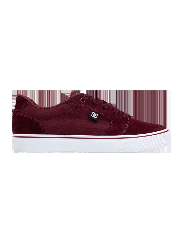 Tênis DC Shoes Anvil LA Maroon / White
