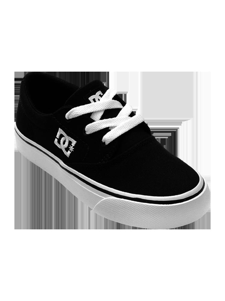 Tênis DC Shoes Infantil Flash II TX LA Black / White