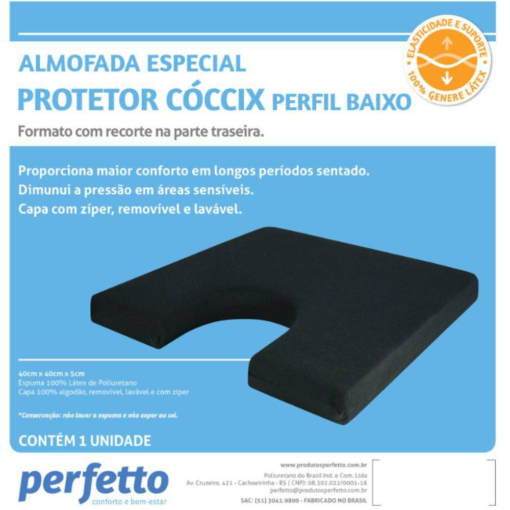 ALMOFADA TERAPÊUTICA PARA CÓCCIX PERFIL BAIXO - REF 209090 - PERFETTO