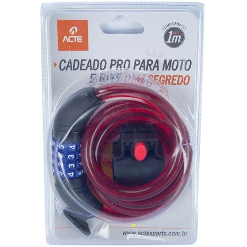 Cadeado com Segredo para Bicicleta/Moto - Pro A20 - Acte Sports