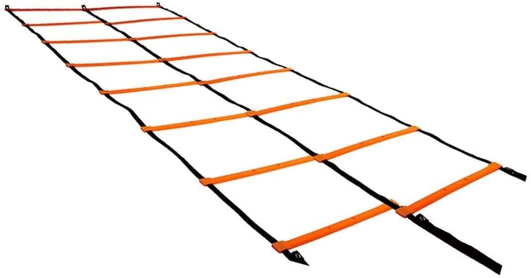 Escada de Agilidade com 8 degraus Dupla 4metros - Laranja - T100 - Acte Sports