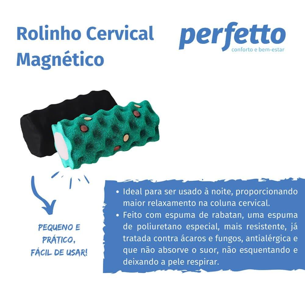 ROLINHO CERVICAL MAGNÉTICO EM ESPUMA RABATAN - REF. 201925 - PERFETTO