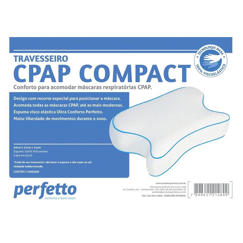 TRAVESSEIRO CPAP BIPAP COMPACT - PERFETTO