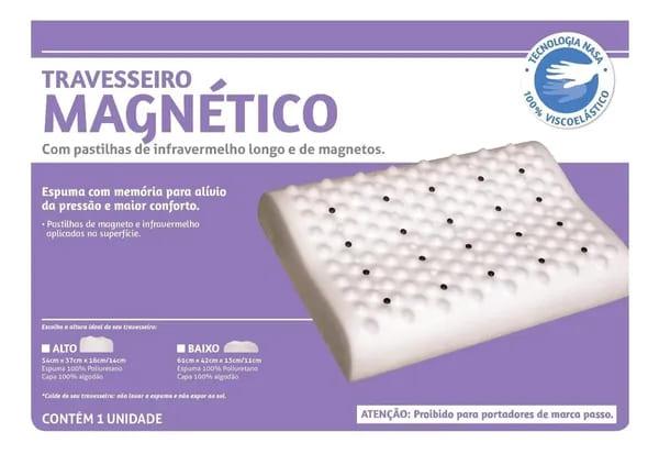 TRAVESSEIRO ORTOPÉDICO MAGNÉTICO - PERFIL BAIXO - REF 205006 - PERFETTO