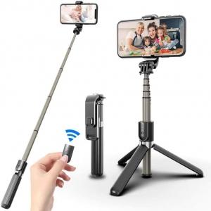 Bastão de Selfie com Tripé para Celular/GoPro com Controle Disparador