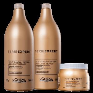 Kit L'Oréal Professionnel Serie Expert Absolut Repair Gold Quinoa + Protein Golden Salon