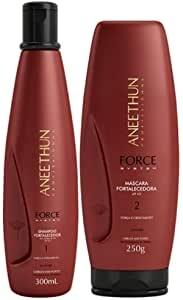 Kit Shampoo 300ml + Máscara 250ml Force System Aneethun