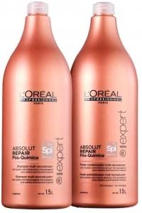 Kit Shampoo e Condicionador L'Oréal Absolut Repair Pós Química