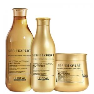 Kit L'Oréal Professionnel Nutrifier (Shampoo, Condicionador e Máscara)