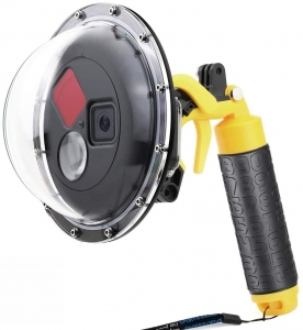 Porta domo SOONSUN para GoPro Hero 8 Preto, Lente de cúpula à prova d 'água