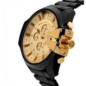 Relógio Diesel Masculino Black And Gold Preto Dz4485/1pn