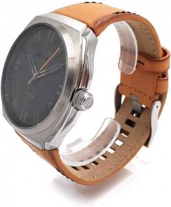 Relógio DIESEL masculino couro laranja DZ1883/1MI