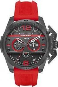 Relógio Diesel Masculino DZ4388 Chumbo Vermelho