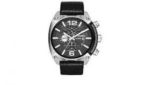 Relógio Diesel Masculino Preto Dz4341/0pi Analógico 10 Atm Cristal Mineral Tamanho Grande
