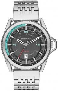 Relógio DIESEL masculino rollcage analógico prata DZ1729/1PN