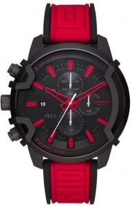 Relógio DIESEL masculino silicone vermelho preto DZ4530/1P
