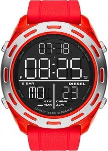 Relógio Diesel Masculino Vermelho Dz1900/8pn Digital 5 Atm Acrílico Tamanho Grande