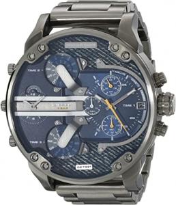Relógio masculino de aço inoxidável DZ7331 Mr Daddy 2.0 em tom de bronze da Diesel