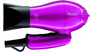 Secador de cabelo, Travel shine, Rosa, Bivolt