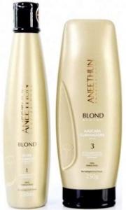Shampoo Silver e Máscara Iluminadora Aneethun Blond System