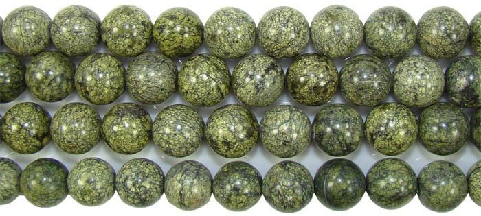 Jaspe Serpentina Fio com Esferas de 12mm - F418  - ArtStones