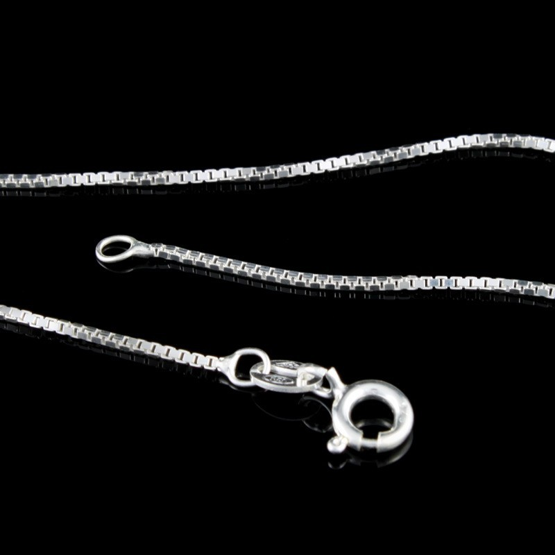 Corrente de Prata 925 Veneziana 40cm Elo 1mm - PR058  - ArtStones