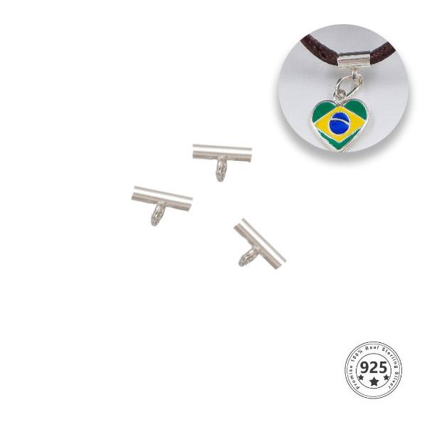 Acessórios para Pulseira de Seda 2mm em Prata 925 - 04 Peças  - PR124  - ArtStones