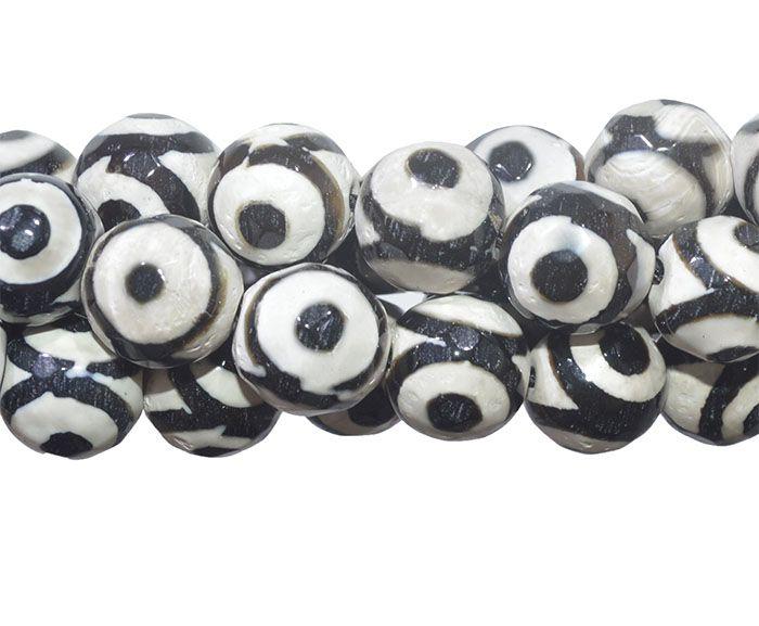 Ágata Africana Caracol Fio com Esferas Facetadas de 8mm - F129  - ArtStones