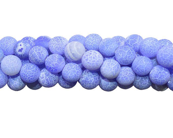 Ágata Azul Craquelada Esferas de 6mm - FAG_401/6  - ArtStones