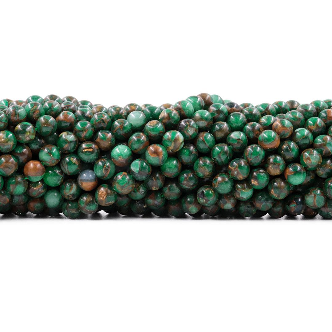 Ágata Blue Lake Verde Fio com Esferas de 6mm - F016  - ArtStones