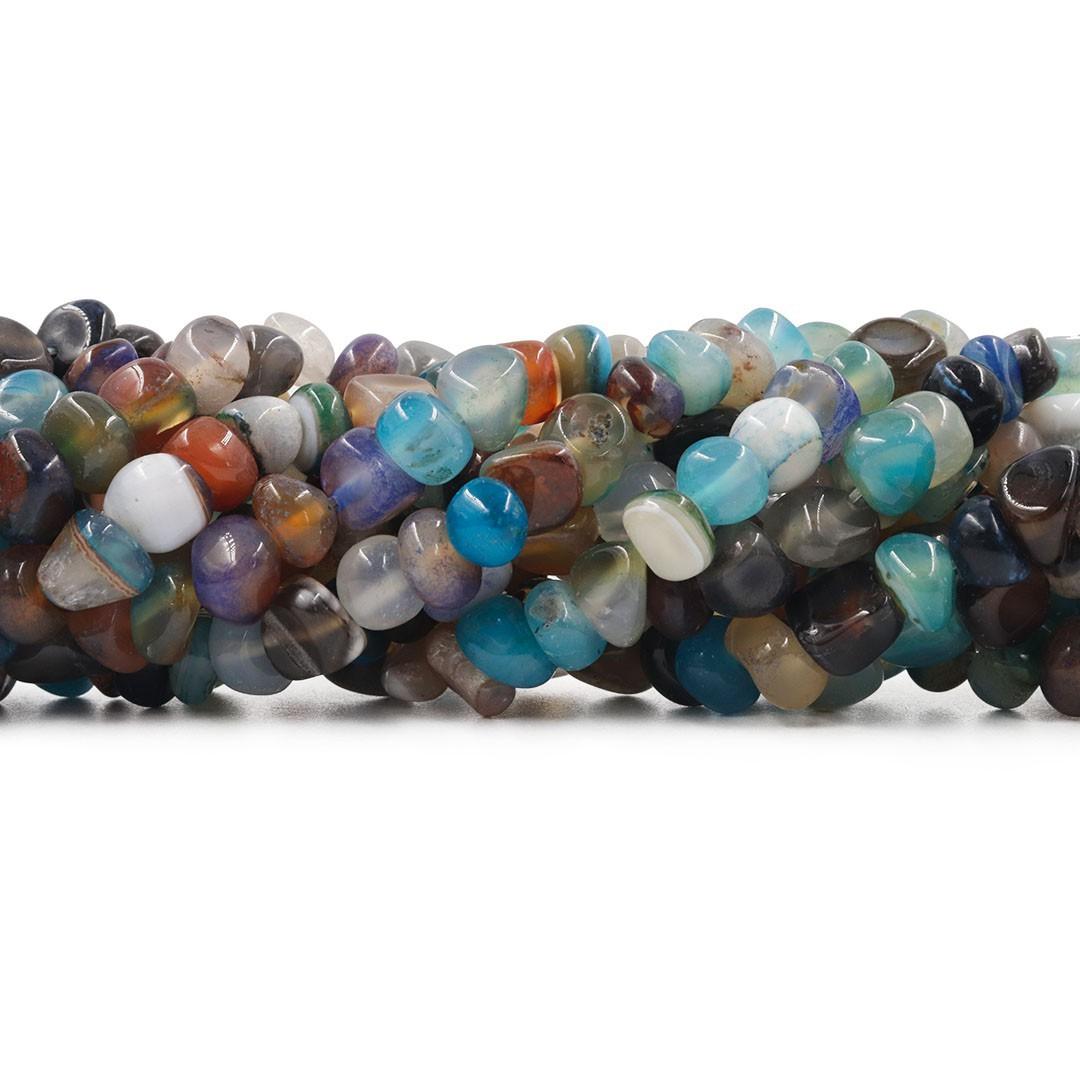 Ágata Natural Azul Mix Rolada - F114  - ArtStones