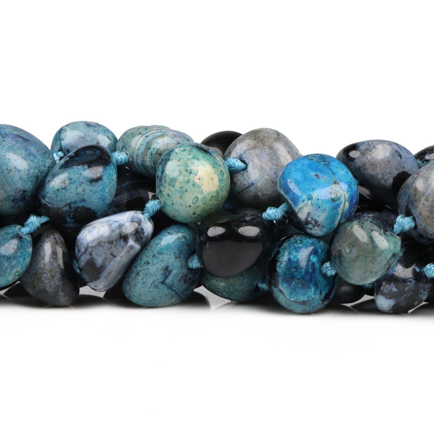 Ágata Natural Rolada Azul Mesclada - FAG_279  - ArtStones
