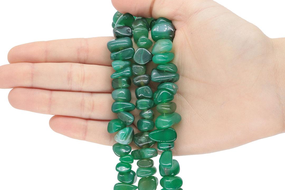 Ágata Verde Mesclada Natural Nugget - F291  - ArtStones