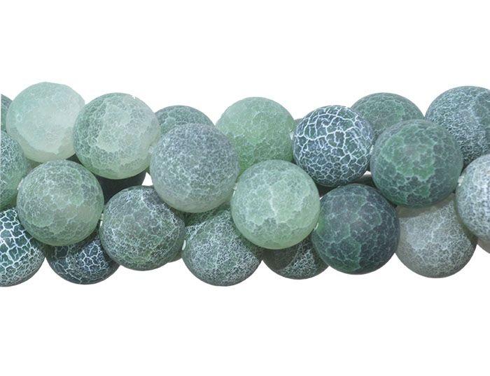 Ágata Verde Craquelada Esferas de 12mm - F032  - ArtStones