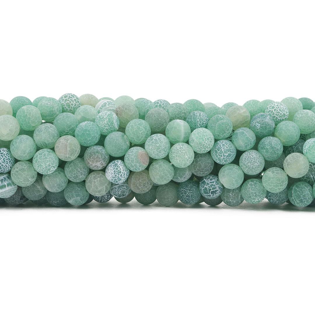 Ágata Verde Craquelada Esferas de 8mm - F624  - ArtStones