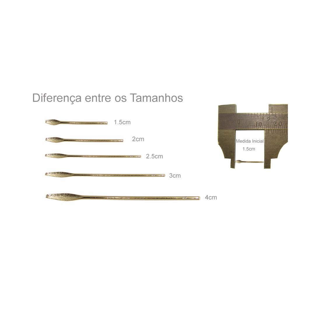 Alfinete Lança Folheado 2.5x0.60 - 10 peças - FO000  - ArtStones