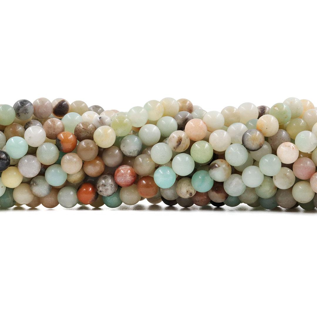 Amazonita Mesclada Fio com Esferas de 6mm - F332  - ArtStones