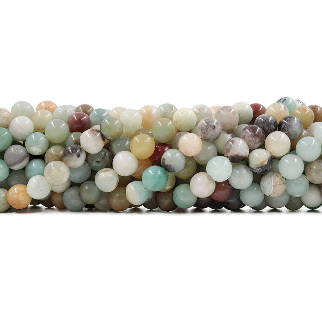 Amazonita Mesclada Fio com Esferas de 8mm - F333  - ArtStones