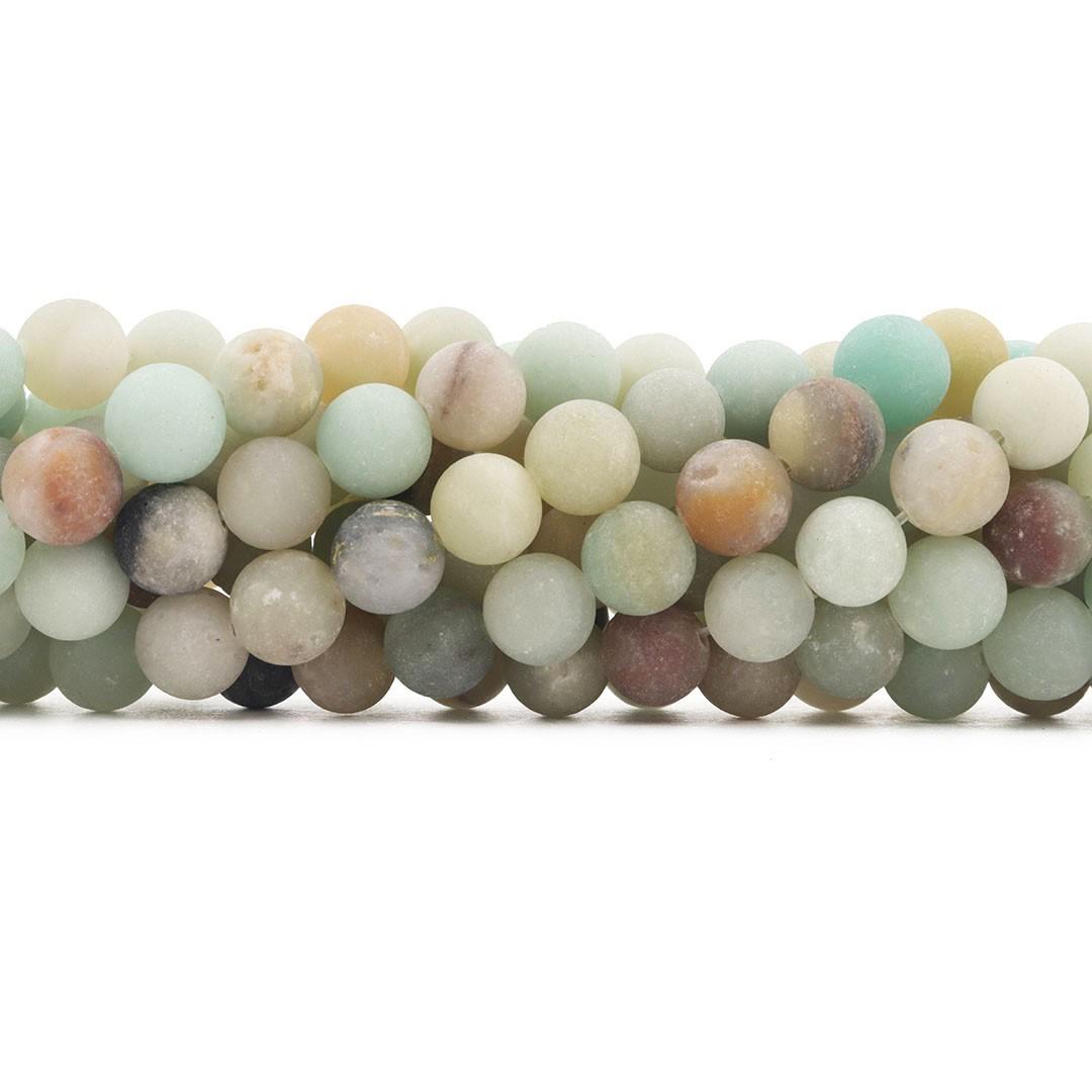 Amazonita Mesclada Fosca Fio com Esferas de 10mm - F164  - ArtStones