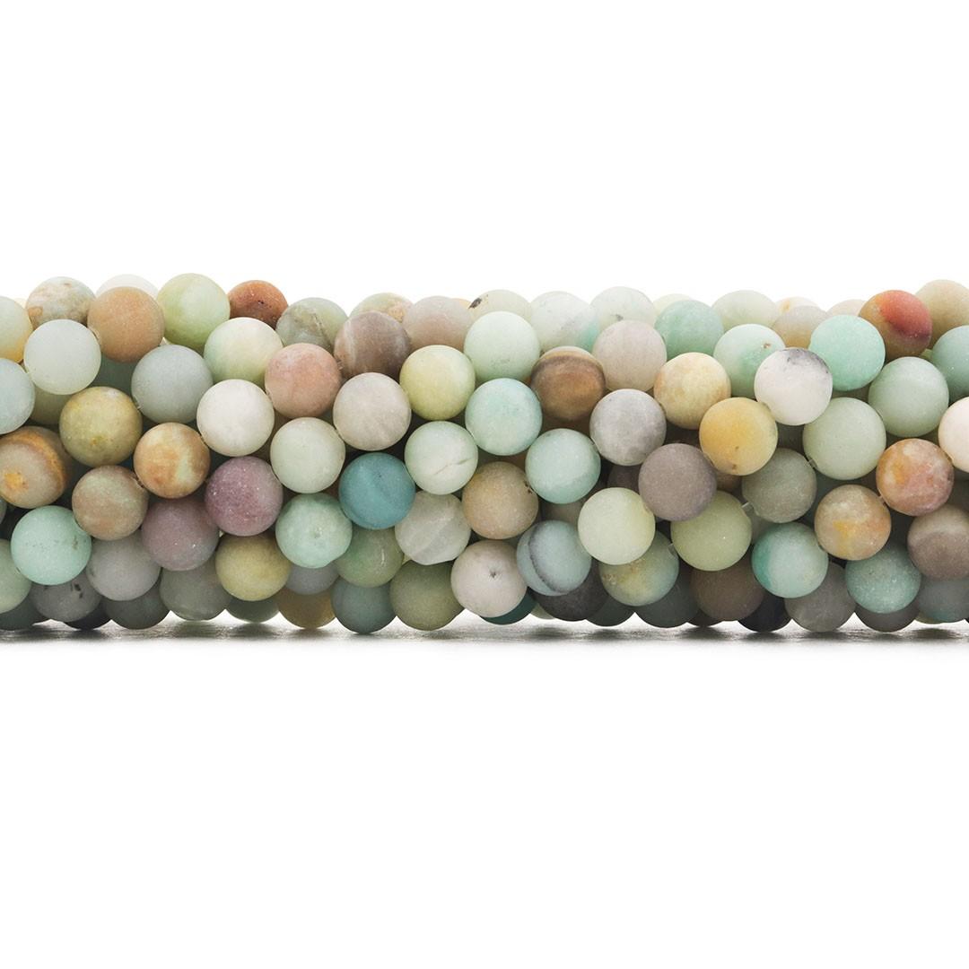 Amazonita Mesclada Fosca Fio com Esferas de 8mm - F420  - ArtStones