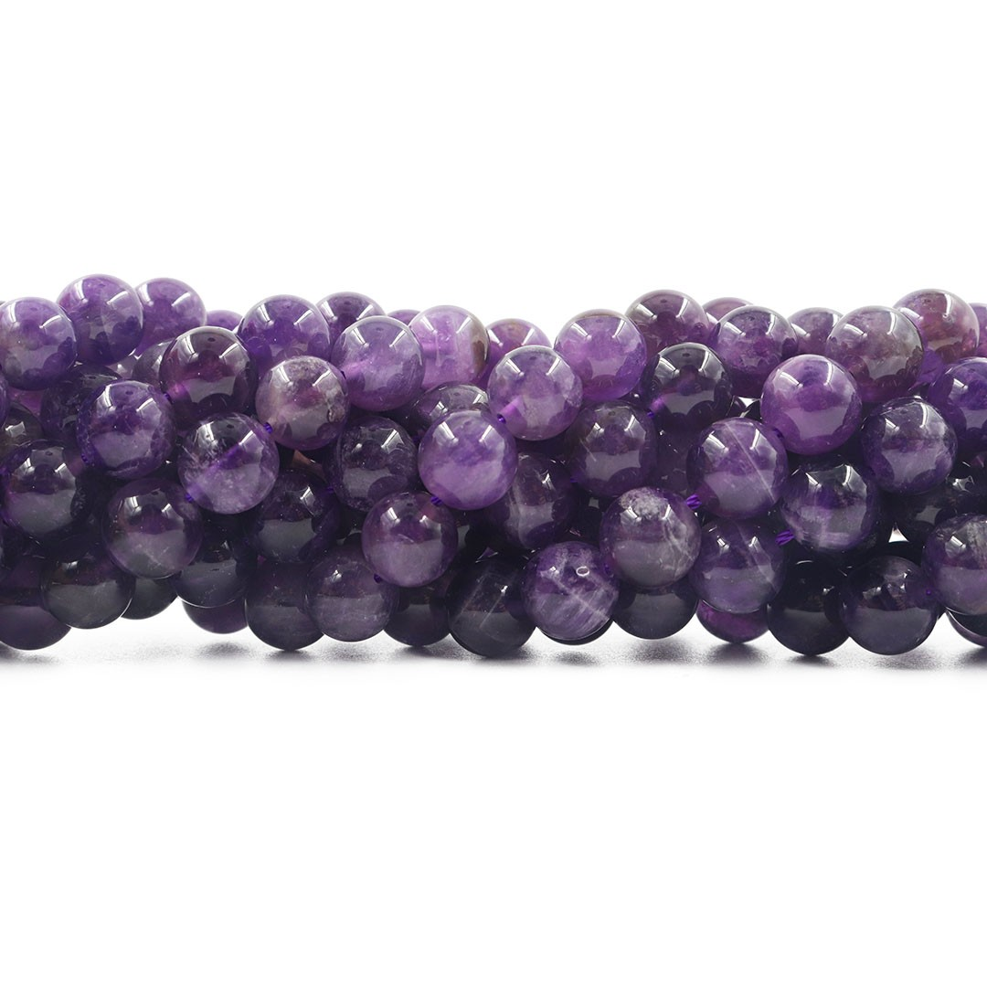 Ametista Natural Mesclada Fio com Esferas de 10mm - F176  - ArtStones