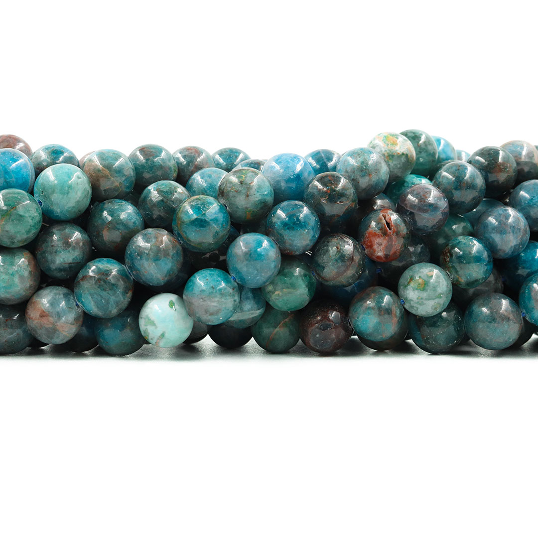 Apatita Mesclada Natural Fio com Esferas de 10mm - F708  - ArtStones